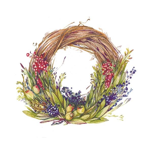 漂亮的花环手绘
