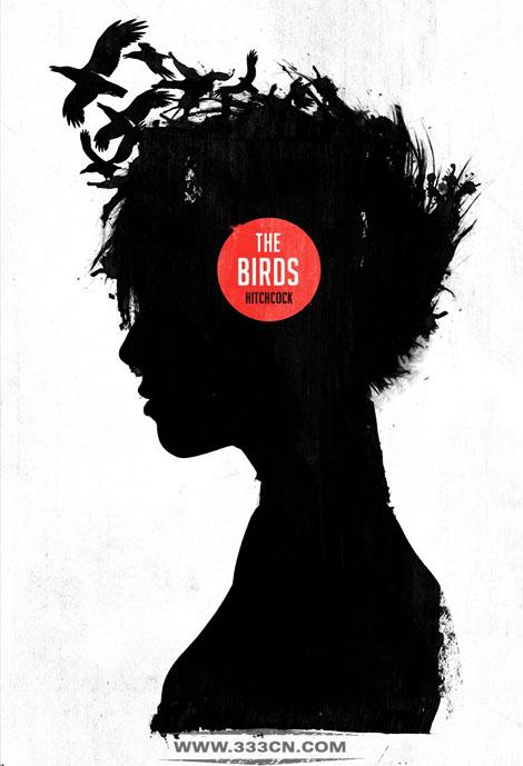 关于电影《鸟》创意海报视觉设计_子木设计-上海设计