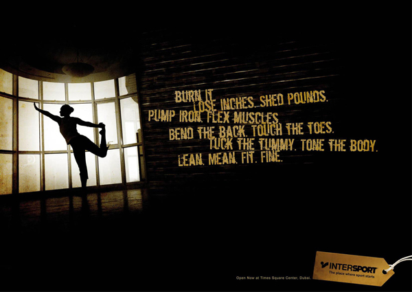 商业空间导视-运动品牌经典创意广告设计欣赏