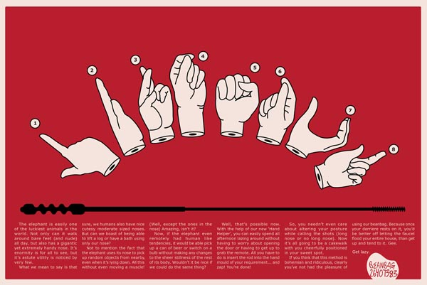 原创手绘插画-国外创意广告系列稿