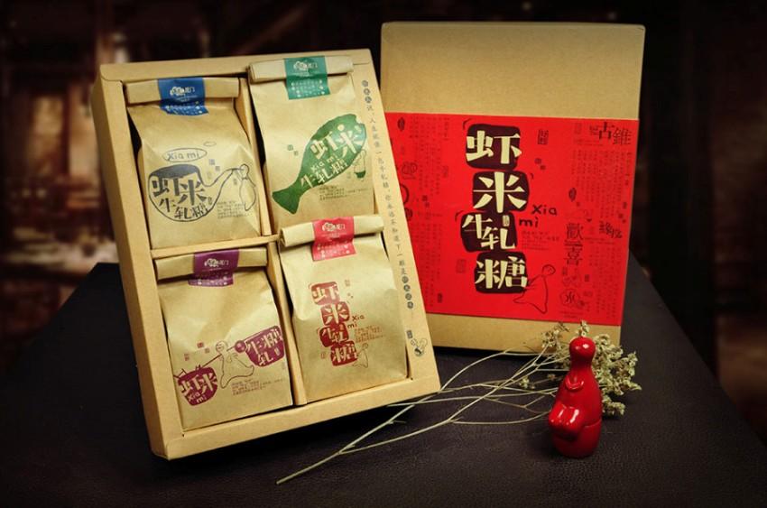 上海包裝設計-蝦米牛軋糖包裝設計